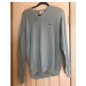 Mens NWT Lacoste Cotton V-Neck sweater